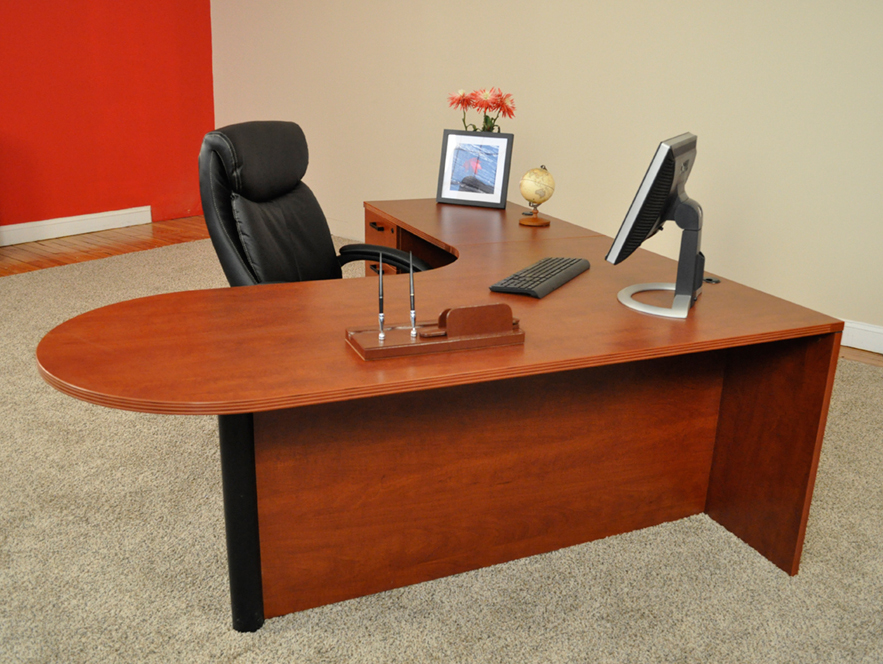Bullet L-shaped Desk #1 Bullet Front L-Shaped Office Desks