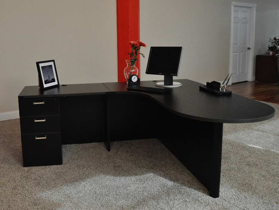 Bullet L-shaped Desk #2 Bullet Front L-Shaped Office Desks