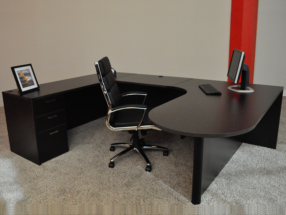 Bullet U-shaped Desk #3 Bullet Front U-Shaped Office Desks