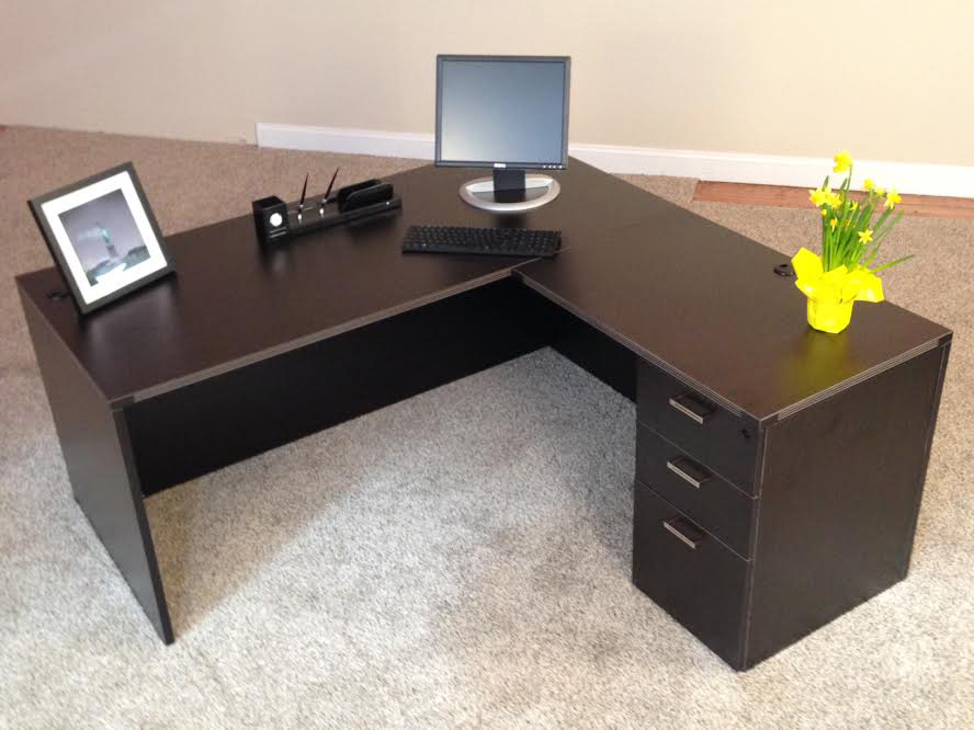 Affordable Office Rectangular L Desk 3 Baystate Office Furniture Lawrence Ma