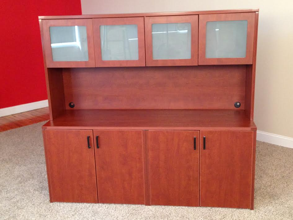 Click to enlarge image 9 Storage Credenzas with 4-Door Hutch.jpg