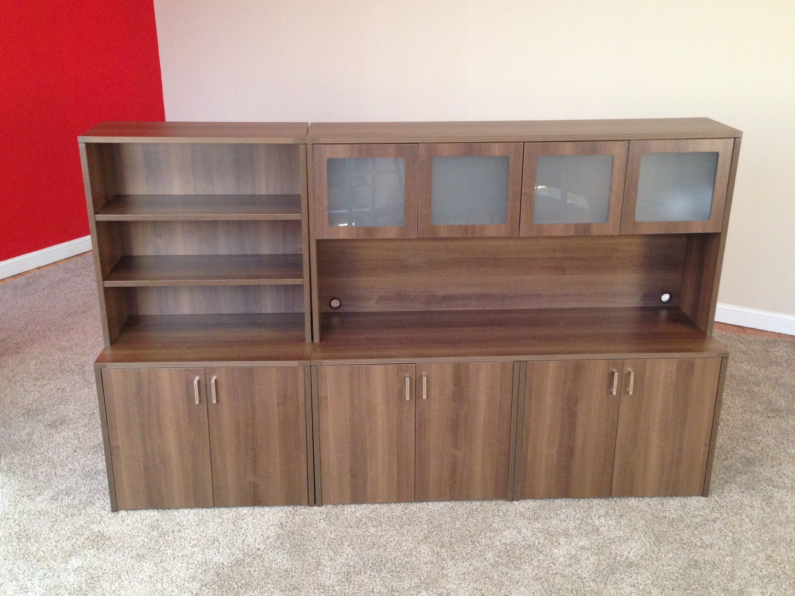 Storage Credenzas with Hutch & Add'l Storage Office Storage
