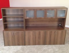 Storage Credenzas with Hutch & Add'l Storage