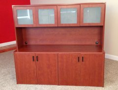 Storage Credenzas with 4-Door Hutch