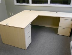 Rectangular Front L-Shaped Desks