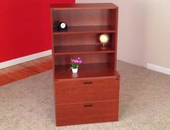 2-Drawer Lateral with Open Hutch